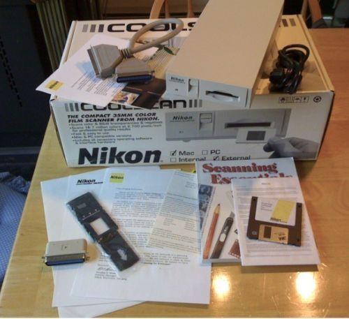 Nikon Coolscan LS-10E Mac SCSI Complete  box Slide/Negative Scanner WORKS FINE