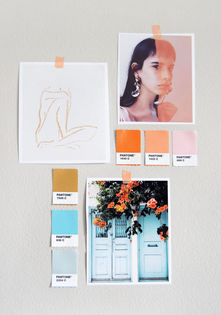 Mini Mood Board by @laurenwager of Color Collective. Click image for link to view original sources of artwork
