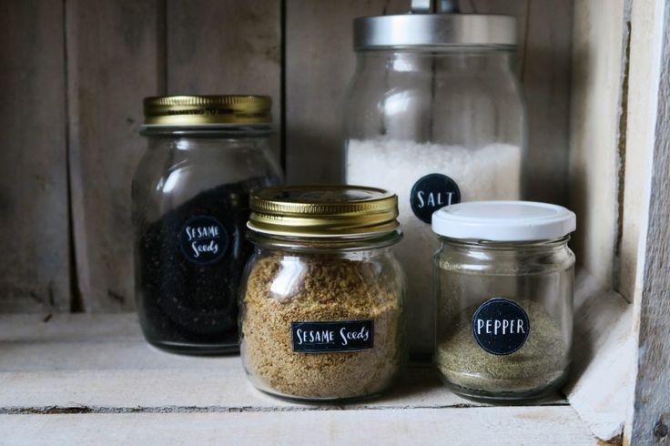 Eat cook e lovis - Dispensa organizzata – Vasi con etichette effetto lavagna