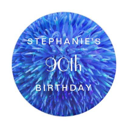 #Blue Abstract Paper Plates 90th Birthday Party Paper Plate - #giftidea #gift #present #idea #number #twenty #twentieth #bday #birthday #20thbirthday #party #anniversary #20th