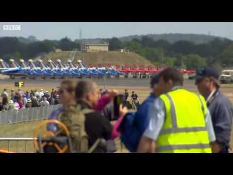 Mass fly-past at Royal International Air Tattoo   BBC News Today    19 J...