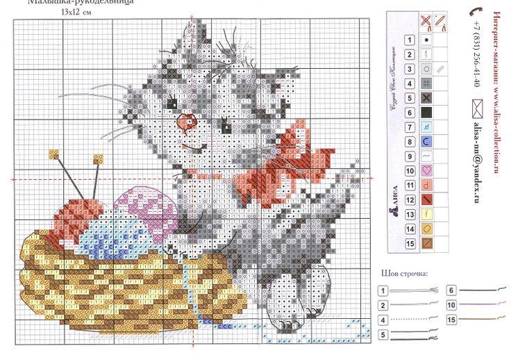 <3Cross stitch patterns- cat