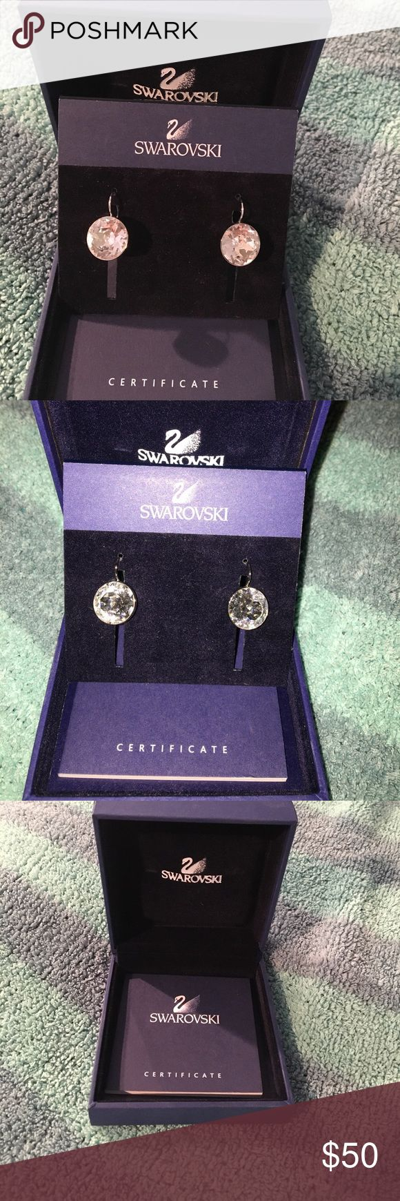 Swarovski Bella earrings Brand new in box This is a pair of very special earrings that can be worn on any occasion. Be it a casual glamorous look or a cool chic one, this set of rhodium-plated pierced earrings with bezel-set, faceted crystal are ideal. Swarovski Jewelry Earrings