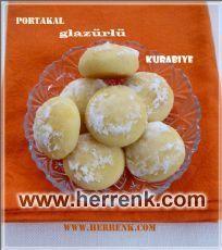 Portakal glazürlü kurabiye mmmmmm..