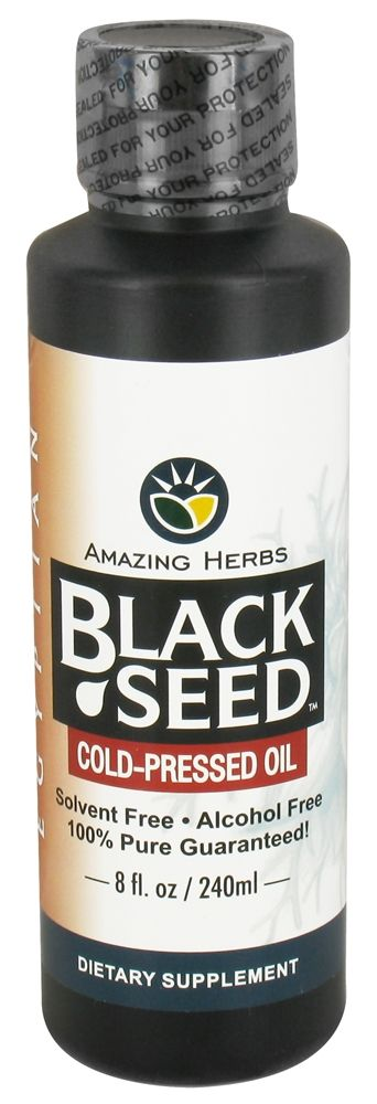 Buy Amazing Herbs - Egyptian Black Seed Cold-Pressed Oil - 8 oz. at LuckyVitamin.com