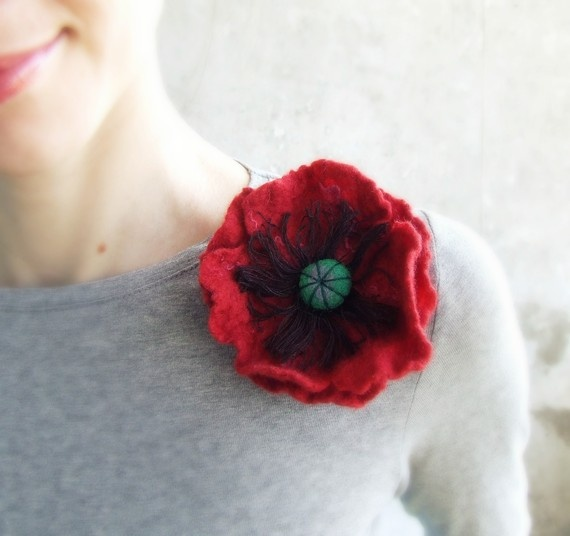 This would be so lovely to wear each year on Remembrance Day in Canada