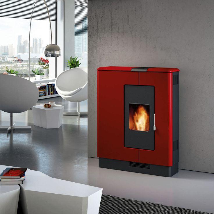 Piazzetta P936 with Rosso Lava Majolica Surround. www.calore.co.za