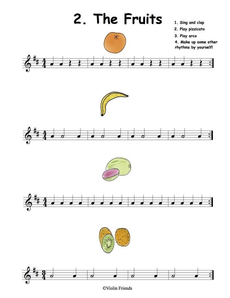 8 besten Easy Sheet Music PDF for Violin Bilder auf Pinterest ...