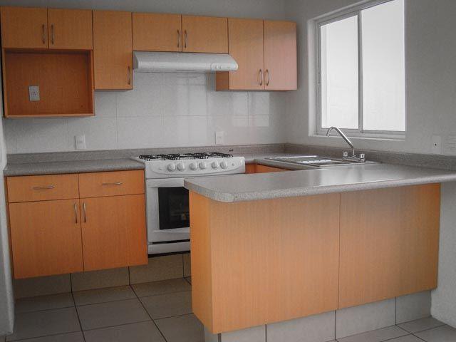 Cocina econ mica de tipo generico en melamina color haya - Muebles para cocina economica ...