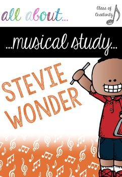 The first of many amazing packs about wonderful musicians and artists. I am so unbelievably proud of this project. All about the wonderful and inspiring Stevie Wonder.  A full and comprehensive (and easy to use) musical study. I can't wait to start studying musicians and get the children developing their own music sense next year! Class of Creativity