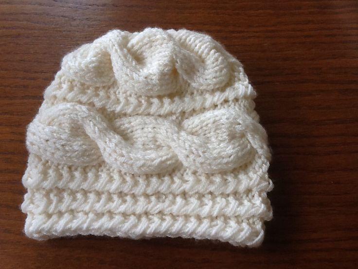 Druhá varianta osmičková zimná čiapka