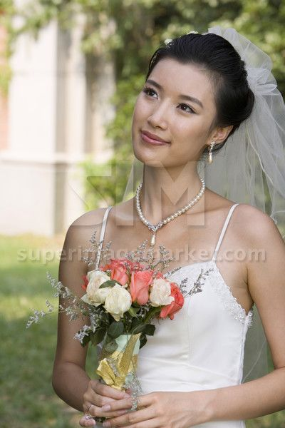 Young Chinese bride on her wedding day