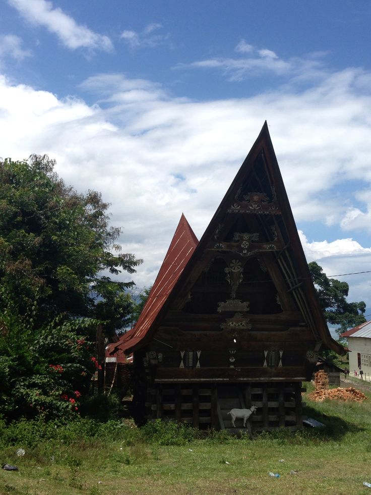 Samosir Island. Batak traditional house
