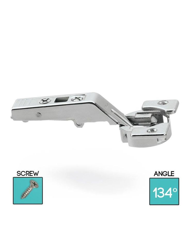 CLIP top central hinge for AVENTOS bi-fold lift systems 134°, unsprung.  Opening angle: 134°