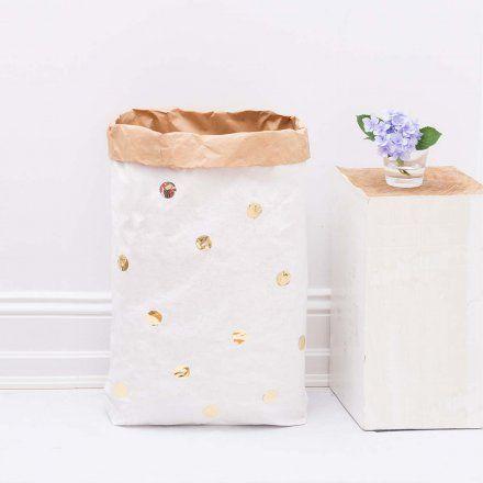 Eulenschnitt Paperbag DIY Punkte gold online kaufen ➜ Bestellen Sie Paperbag DIY Punkte gold für nur 14,95€ im design3000.de Online Shop - versandkostenfreie Lieferung ab 50€!