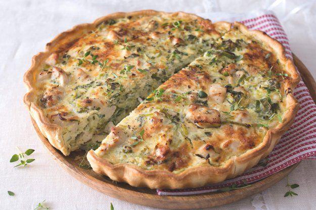 Quiche s kuřetem, pórkem a sýrem gruyère | Apetitonline.cz