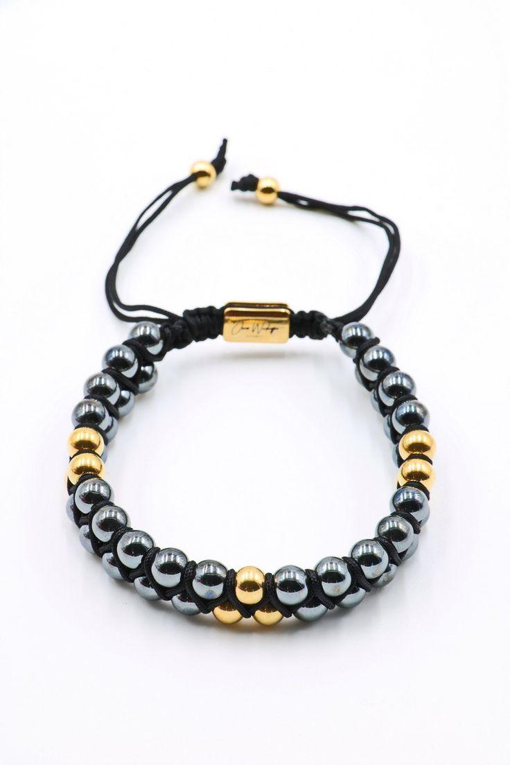 Hematite Double Beaded Bracelet 6mm