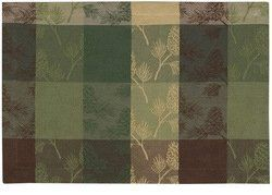 Pine Ridge Kitchen Placemats Set by Creative Home Accents. $44.95. The Pine Ridge Kitchen Placemats Set consists of 12 individual 13 inch by 19 inch and are 100 percent cotton fabric. The Pine Ridge Kitchen Placemats feature a plaid pattern design in shades of brown, dark green, sage and cream with a pinecone and needles motif all over. The extra placemats can be used be used as pot hot pads on your dinner table, as dollies to highlight a particular piece of intere...