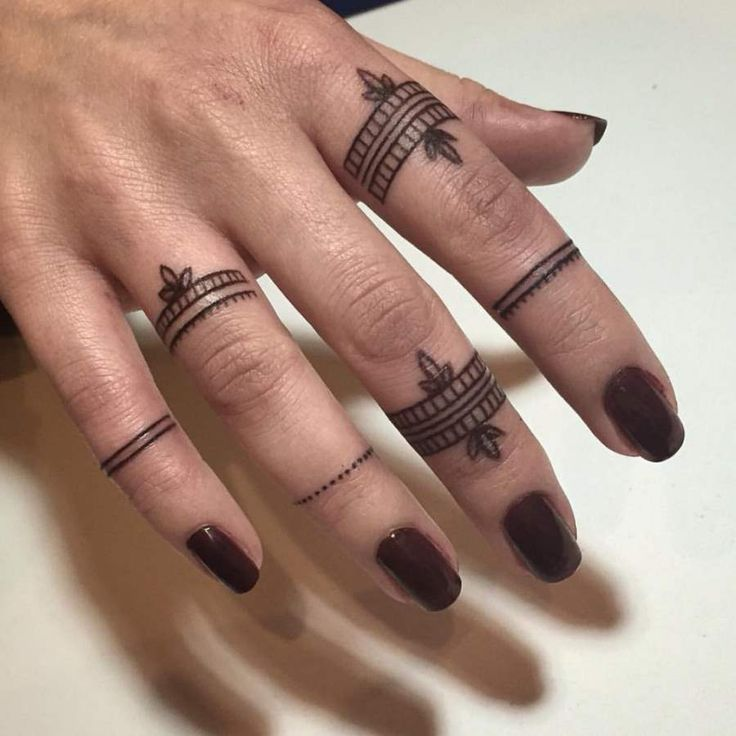 Ring Tattoos on Fingers