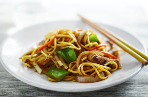 A simple Yaki Soba recipe for you to cook a great meal for family or friends. Buy the ingredients for our Yaki Soba recipe from Tesco today.