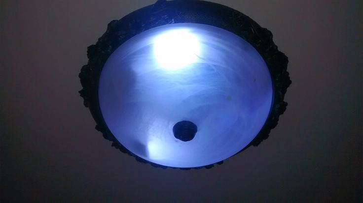 Oyster light converted to led with remote control