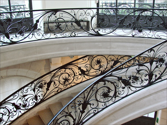 Cast iron Stairway handrail of Petit Palais, Paris,  design by Charles Girault (1851-1932) , the architect of Petit Palais.