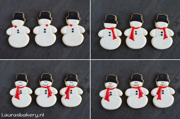 Sneeuwpop koekjes tutorial - Laura's Bakery