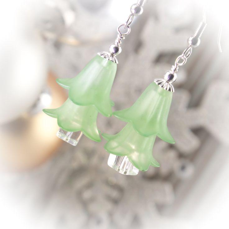 Czech crystal Christmas tree earrings  219956EC by LaraBellaJewelry on Etsy