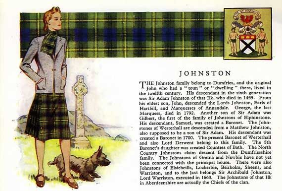 Johnston clan- AKA Johnstone