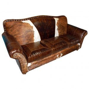 Western Leather Sofa Sleeper
