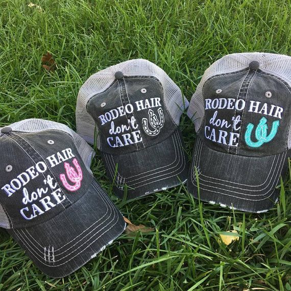 Hat Rodeo hair don't care Horseshoe. 3 color options.