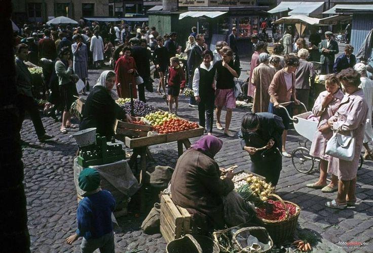 Nowy Rynek - dzień targowy rok 1962