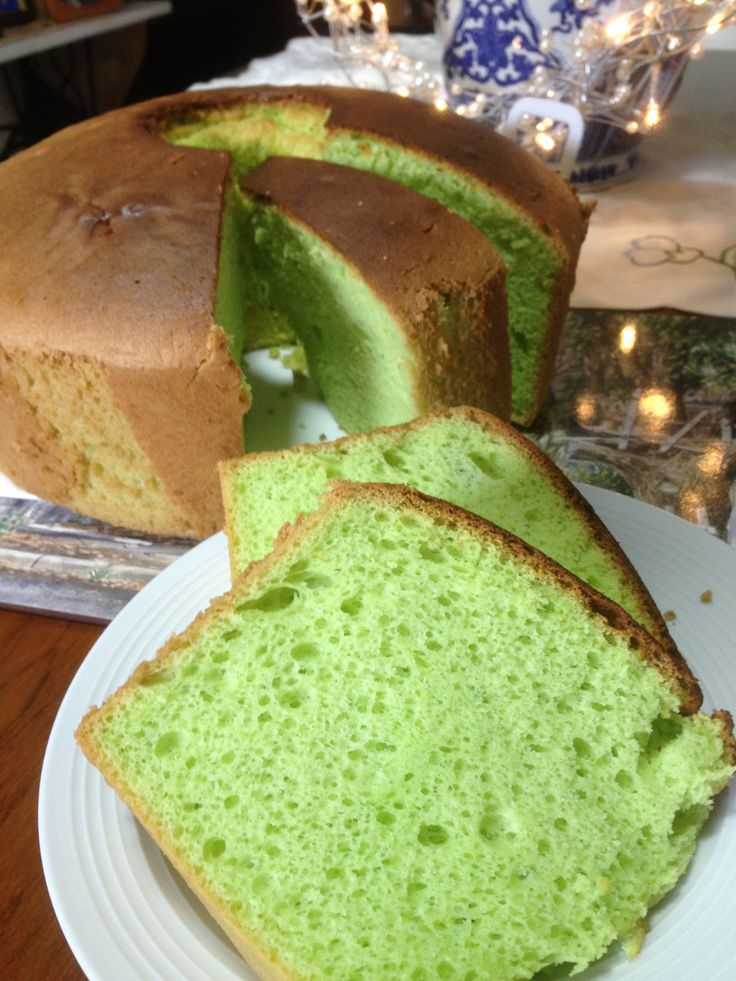 This beautifully light Pandan Chiffon Cake defies the image of #glutenfree It is melt in your mouth and difficult to stop at just one piece.