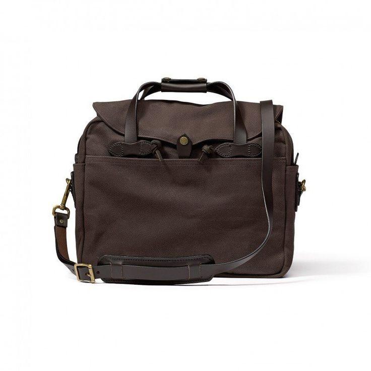 Sac porte-documents et ordinateur portable de Filson, brun