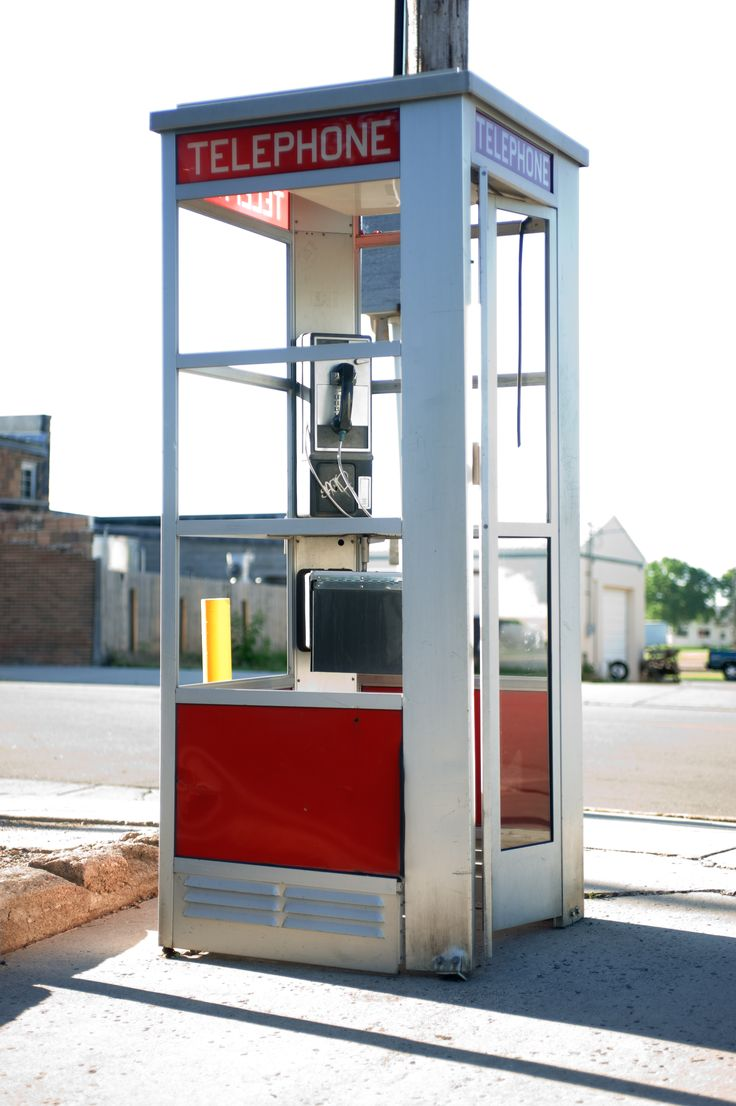 Telephone booths...a thing of the past...remember getting in trouble for playing with the door while mom was on the phone
