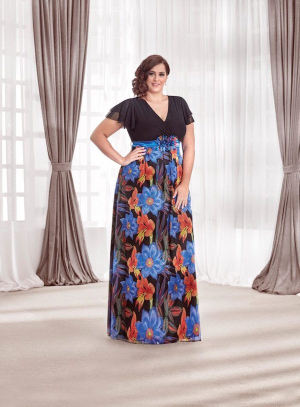Imagenes de vestidos largos para gorditas 2020