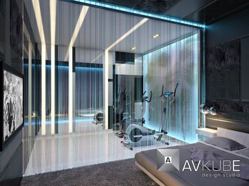Modern Interior Lighting Decor Ideas From AVKube Background Illumintaion Idea For Gym Room