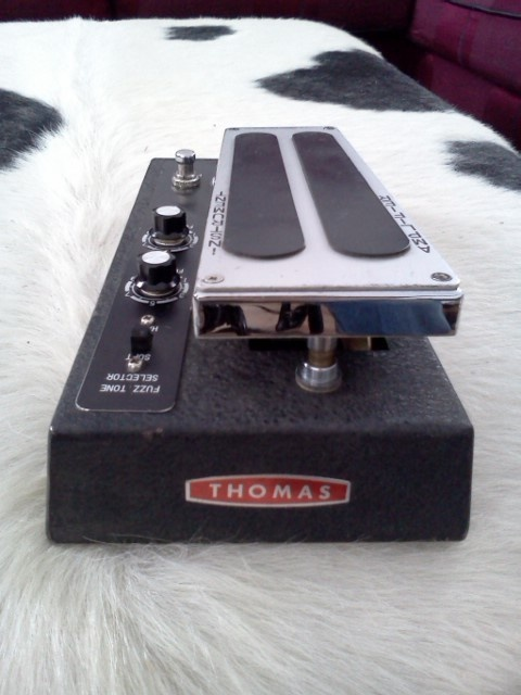 Vintage Thomas Fuzz Wah Guitar Effect Pedal