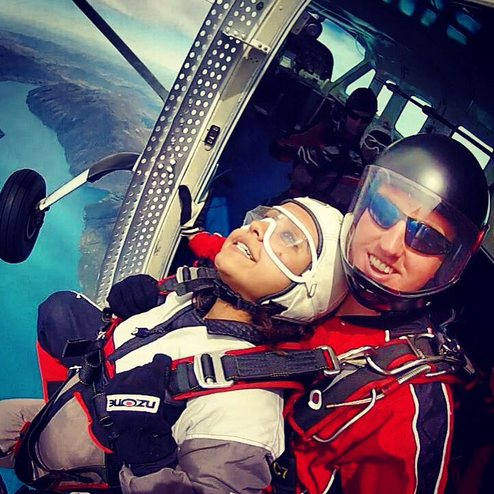 INDIAN CRICKET - Mrs Preethi Ashwin - About to Exit from 15,000ft over Queenstown - with NZONE Skydive