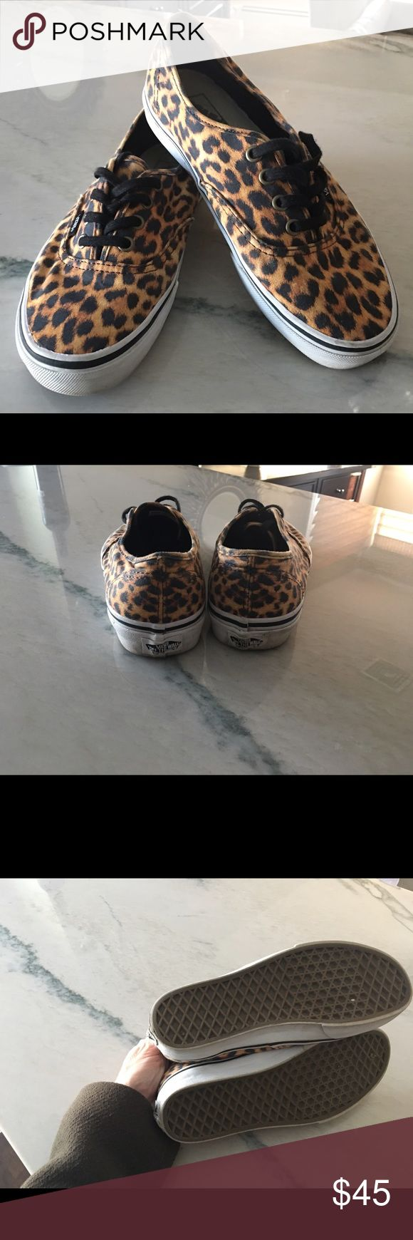 Ladies VANS animal print sneakers Ladies VANS animal print canvas sneakers in ladies size 7.5 men's size 6. In great shape no stains, rips or odors. Comes from a pet free and smoke free home. Feel free to message me any questions.. Vans Shoes Sneakers