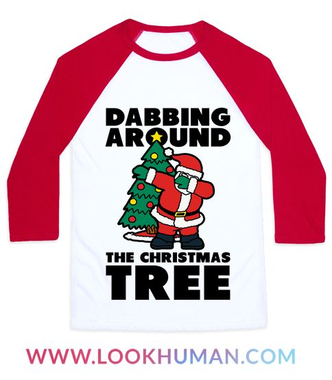 Santa know's what's hot and he's always going to be hip to the new dances. If you're up when he's dropping off presents you just might catch him dabbing around the Christmas tree in his most jolly fashion Perfect for trendy kids who love to party and love funny Christmas shirts!