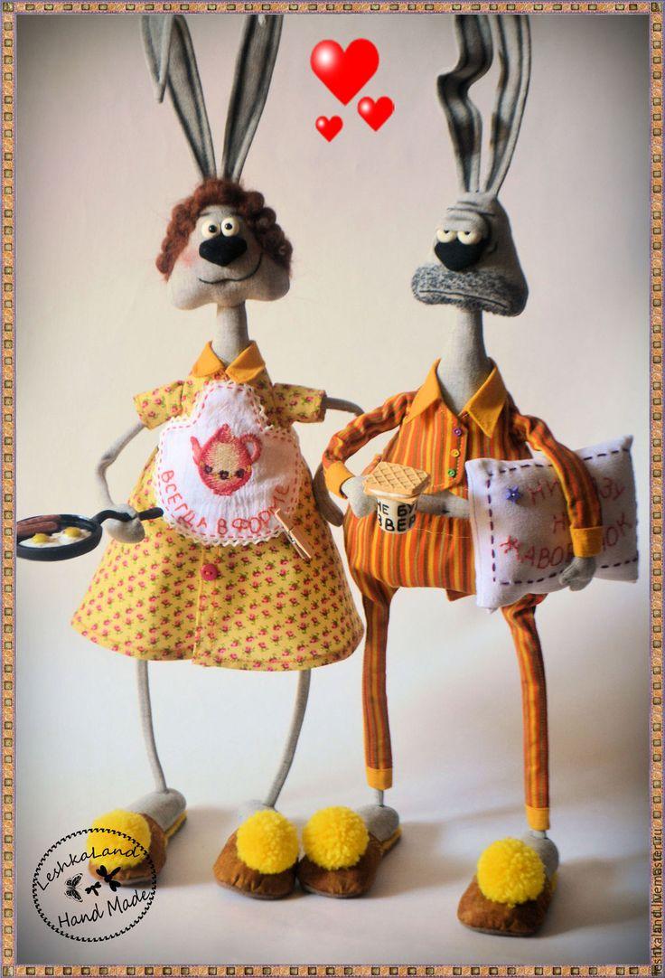Купить ....утро - прикольная игрушка, авторская игрушка, забавная игрушка, забавный, смешной, заяц, утро