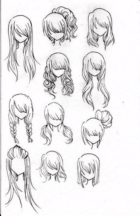 Hairstyles Tame The Mane Pinterest Long Hairstyle Hair - Different hair style drawing