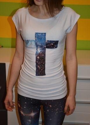Kup mój przedmiot na #vintedpl http://www.vinted.pl/damska-odziez/bluzki-z-krotkimi-rekawami/10742300-biala-bluzka-lodka-minimal-s-m