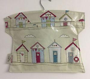 Peg bag,handmade Peg Bag,laundry Bag,clothes Peg Bag,beach Hut oilcloth  | eBay