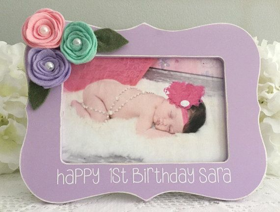 Babys First Birthday Gift Baby Gift Baby Picture Frame First
