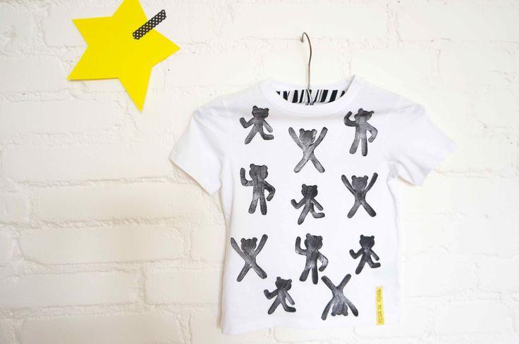 T-shirt hand printed