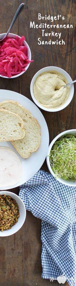 Spice Up a Traditional Turkey Sandwich with Mediterranean ingredients -- #healthy #turkey #lunchideas
