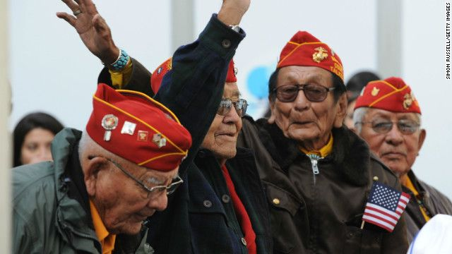 Navajo 'Wind-Talker' from World War II dies http://www.cnn.com/2012/11/01/us/navajo-code-talker-dies/index.html