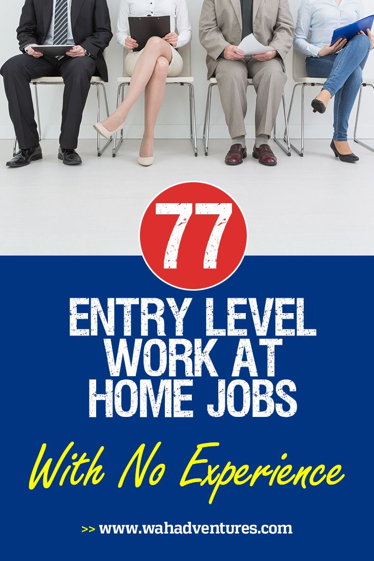 New to Work from Home Jobs? Try These Entry Level Positions That Require No Experience! via @wahadventures